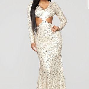 NWT Fashion Nova Sequin Gown